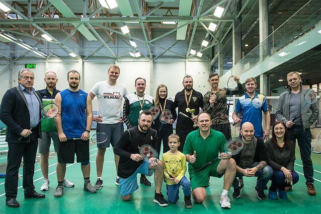 Sporto žurnalistų badmintono turnyre – dar vienas čempiono triumfas