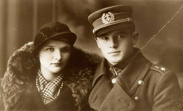 Jonas Noreika with his future wife Antanina Karpavičiūtė, c. 1936
