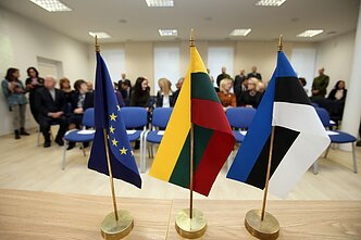 Flags of the European Union, Lithuania and Estonia