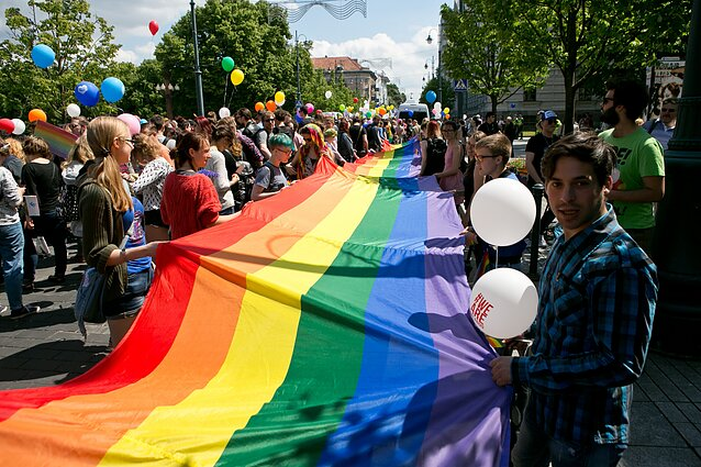 Baltic Pride march in 2016