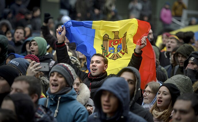 After protests, Moldova formed a new government incorporating both the pro-European, and the pro-Russian parties