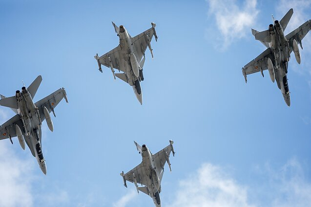 Jets from NATO's air policing mission in the Baltic states