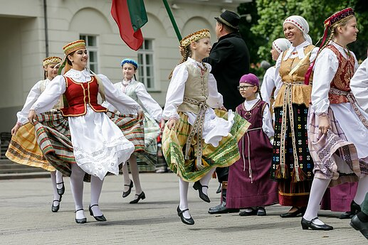 Traditional folk dances during the Statehood Day