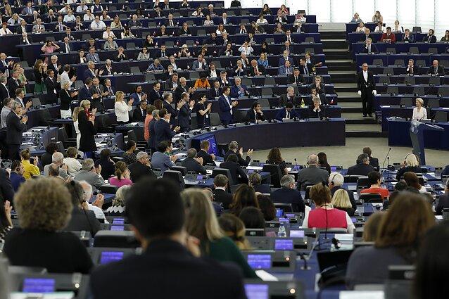 Ursula von der Leyen prieš balsavimą Europos Parlamente