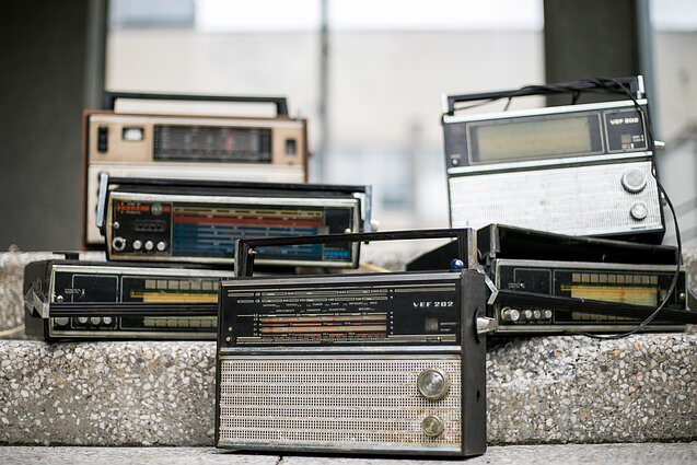 Old radio sets