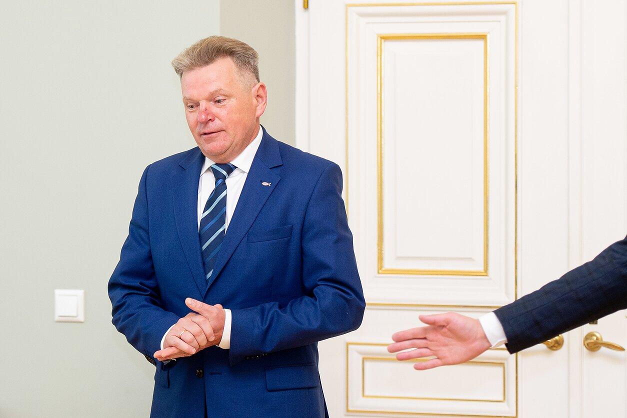 Kandidato į susisiekimo ministrus Jaroslavas Narkevičius susitiko su Gitanu Nausėda
