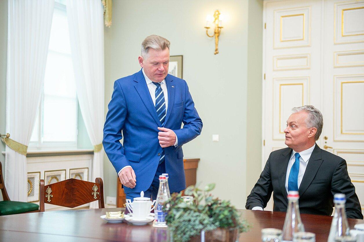 Jaroslav Narkevič with President Gitanas Nausėda