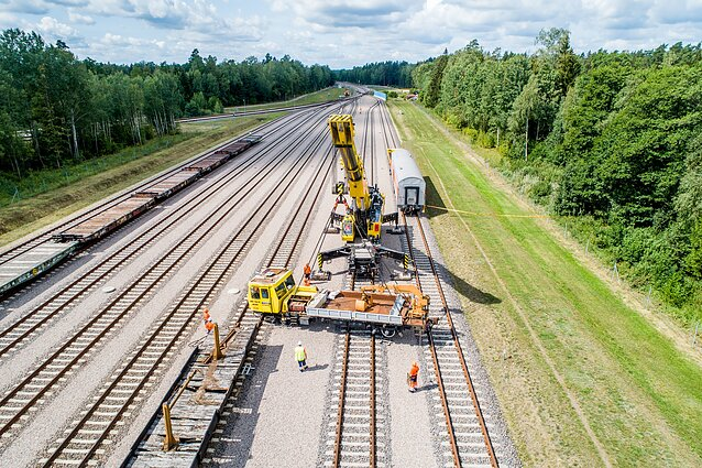 """Saugumo pratybos baigtame statyti """"Rail Baltica"""" ruože"""