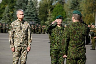 Lithuanian President Gitanas Nausėda visited the main military base in Rukla on September 17, 2019