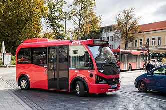 Vilnius acquired five small electric buses last year