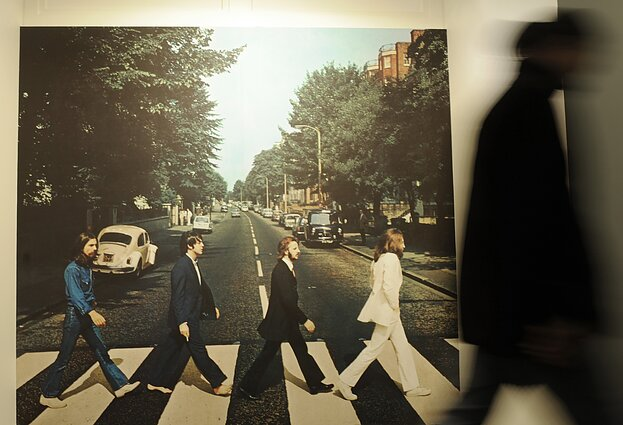 """The Beatles"" ""Abbey Road"" albumo viršelis"