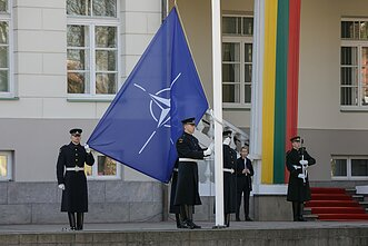 NATO and Lithuanian flags