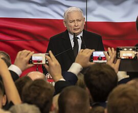 Jarosław Kaczyński, the leader of Poland's conservative Law and Justice party.