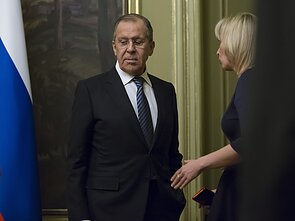 Russian Foreign Minister Sergey Lavrov and the ministry's spokeswoman, Maria Zakharova