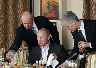 The so-called Putin's chef, Yevgeny Prigozhin, and Vladimir Putin