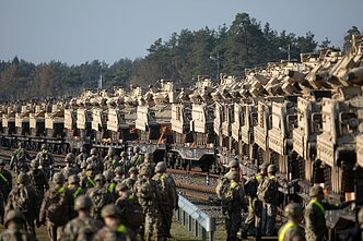 American equipment arrives in Lithuania