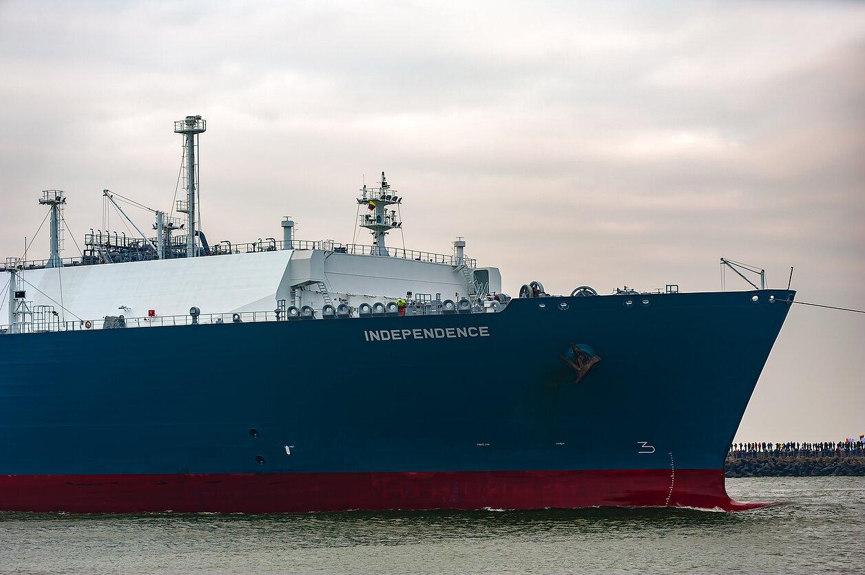 """Suskystintų gamtinių dujų terminalo laivas-saugykla """"Independence"""""""