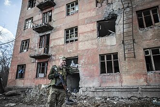 A battle in Zolote, Luhansk region, on Tuesday saw casualties on both sides