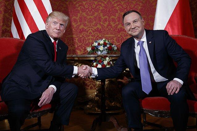 Donaldas Trumpas ir Andrzejus Duda