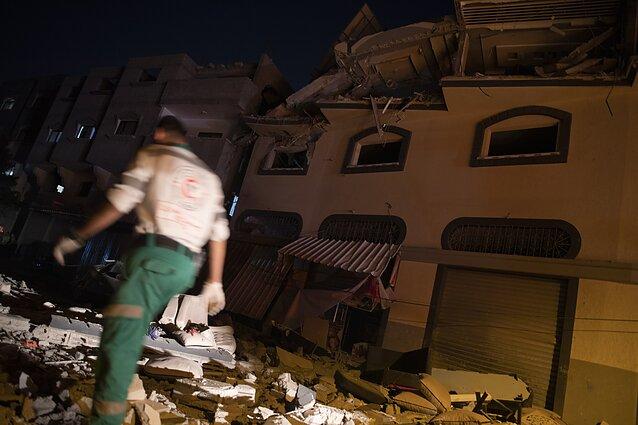 Namo griuvėsiai Gazoje po Izraelio atakos prieš džihadistus