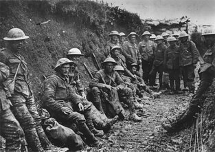 Royal Irish Rifles during Battle of the Somme, World War One, 1916
