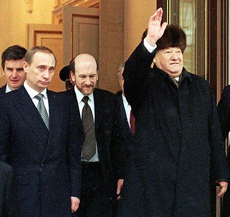 Vladimiras Putinas ir Borisas Jelcinas