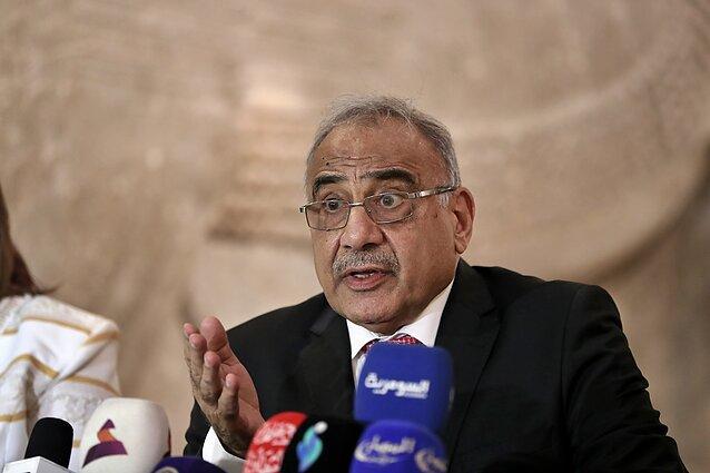 Irako premjeras Adelis Abdelis Mahdi