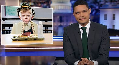 "Trevor Noah mocked Trump's ""looser table"" with Lithuania and other seven state leaders"