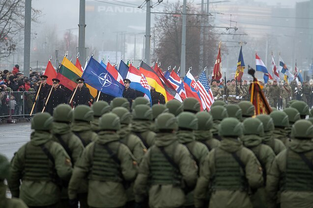 NATO troops take part in Lithuania's military parade