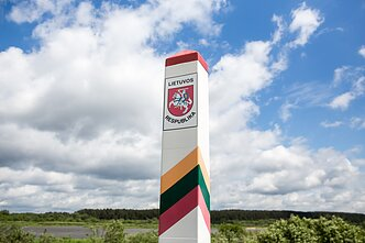 Lithuanian border sign
