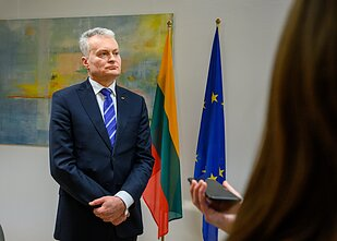 Lithuanian President Gitanas Nausėda awarded 34 people