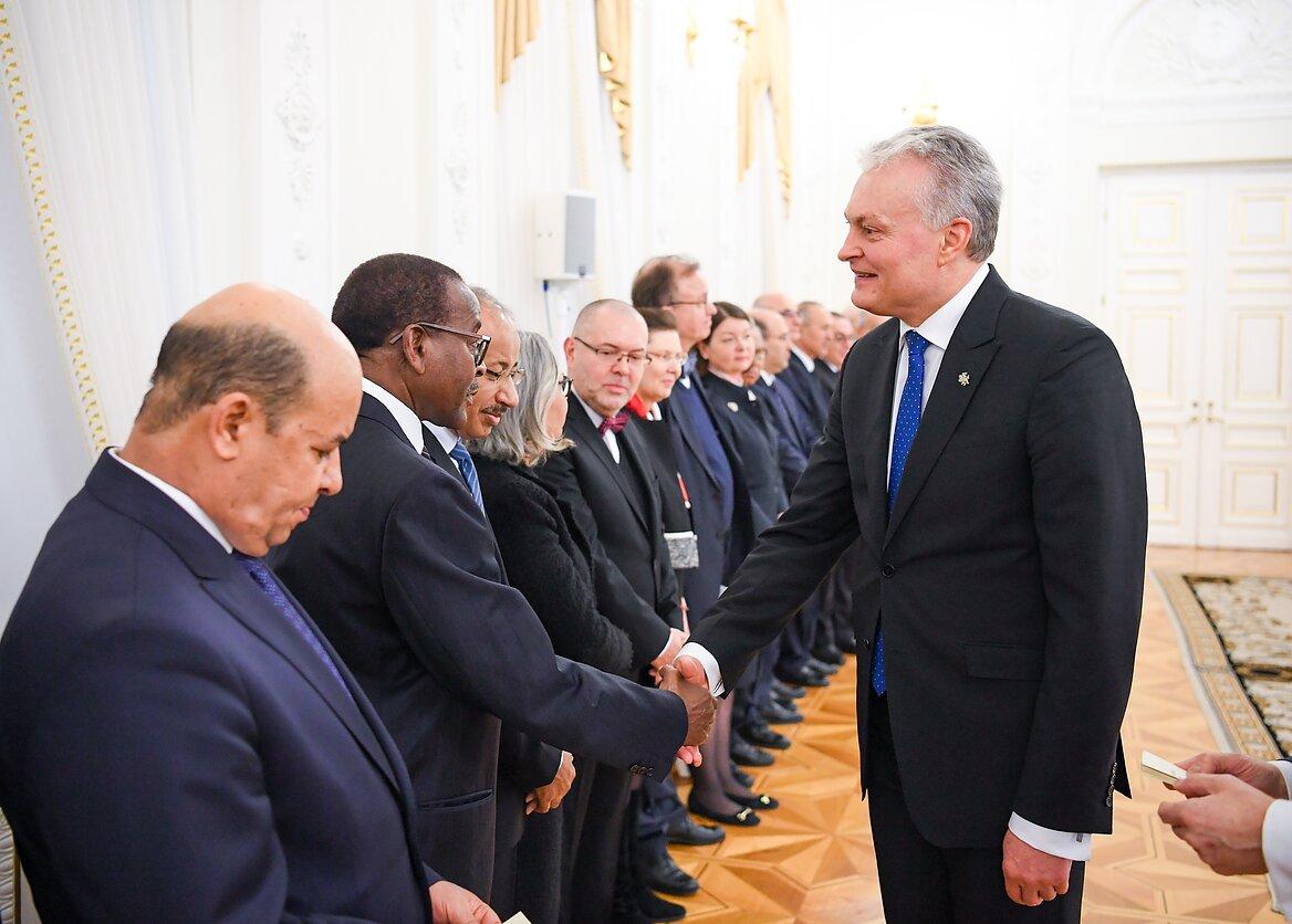Gitano Nausėdos susitikimas su Lietuvoje dirbančiais užsienio šalių diplomatais