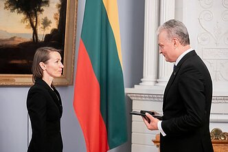 Viktorija Kuodytė picked up her award from President Gitanas Nausėda on Monday