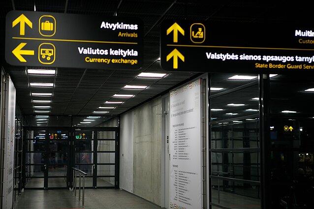 Kauno oro uostas, atvykimo vartai