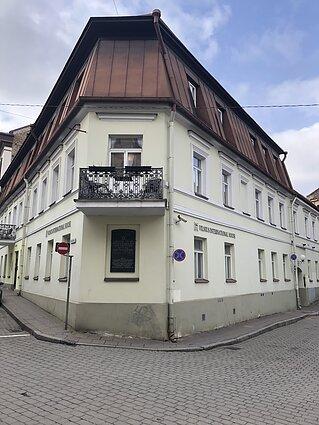 Vilniaus vyriausiosios rabinų mokyklos tarybos namai, kuriuose buvo apsistojęs Teodoras Herclis