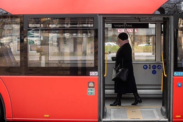 Viešasis transportas/Kaukė/Koronavirusas Vilniuje