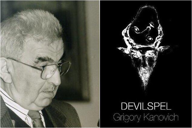 Rašytojas Grigorijus Kanovičius ir jo knygos viršelis