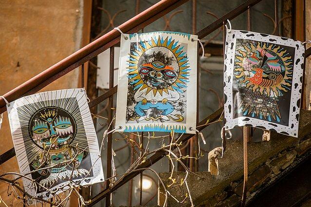 """Projektas """"Balkonų galerijos/Suartėjimai"""". Artūras Arcė Rožkovas, """"Saulutės išlindo"""""""