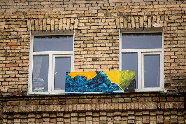 """Projektas """"Balkonų galerijos/Suartėjimai"""", Andrius Makare Makarevičius, """"Vonios ramybėje"""""""