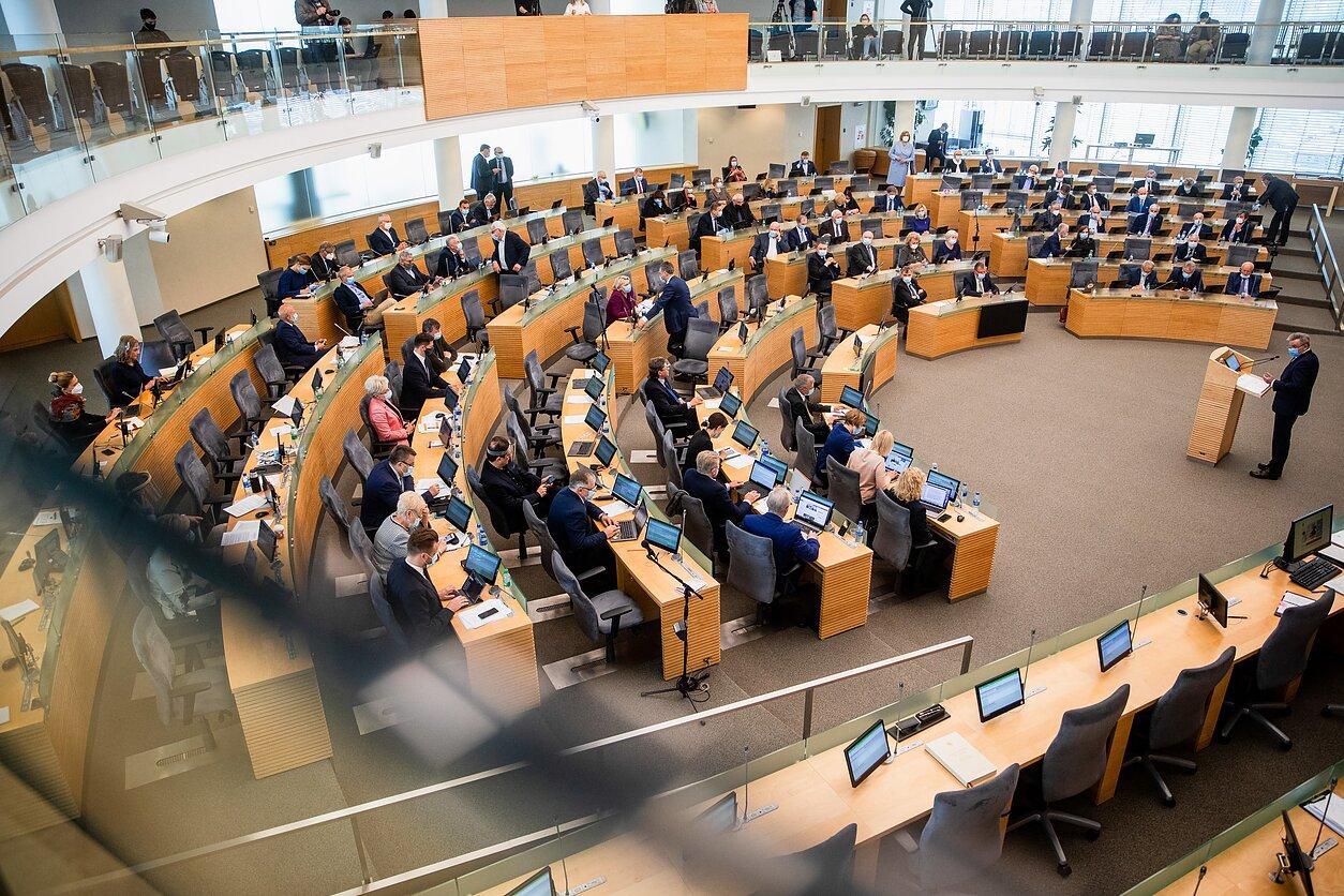 Jaroslavas Narkevičius atsakinėjo į Seimo narių klausimus; Seimas