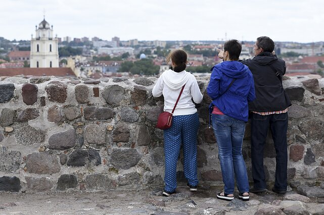 Tourists in Vilnius (associative image)