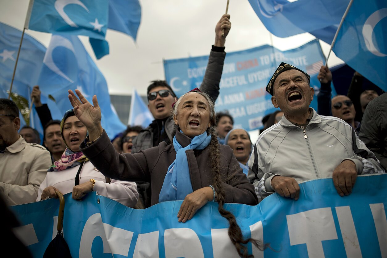 A protest by Uighurs