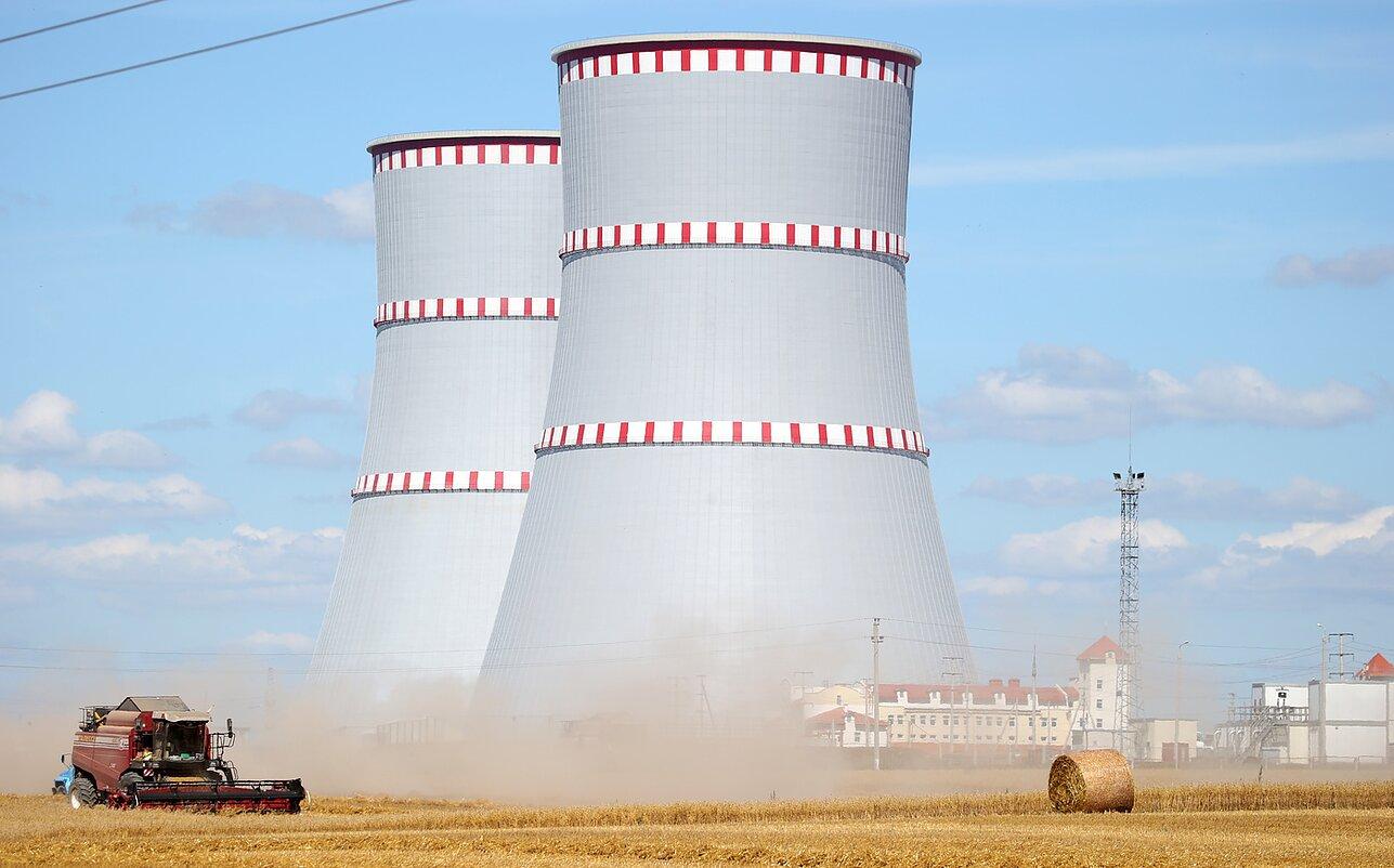 Astravyets nuclear plant in Belarus