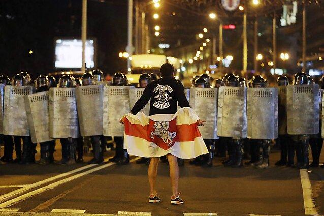 Protestai Minske po Baltarusijos prezidento rinkimų