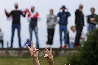 Protestai Baltarusijoje, Minske