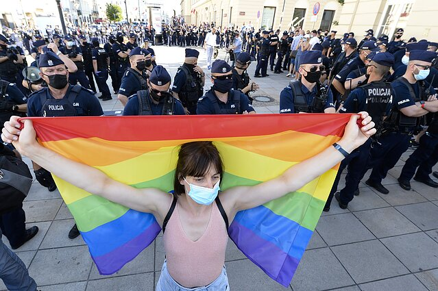 A protest for gay rights in Poland