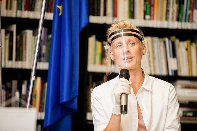 """Kultūros lyderių diskusija """"Dabarties iššūkiai rinkimų kontekste"""". Gintarė Masteikaitė"""