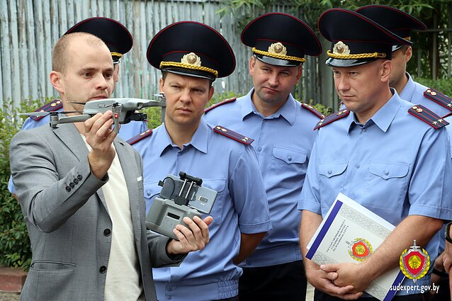 Belarusian State Committee for Forensic Science showed the EU drones on its website