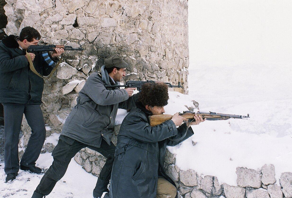 Azerbaidžaniečių kariai Kalnų Karabache kilus karui 1992 m.