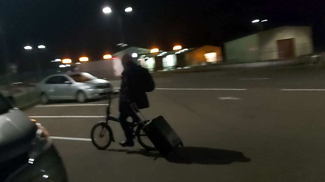 German man cycles across Lithuanian border with a suitcase of heroin